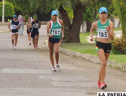 Durante la competencia nacional que se realizó en Cochabamba