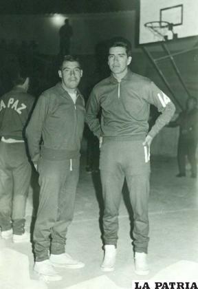 Wilfredo Sandoval junto a Rodolfo Aliaga en 1970
