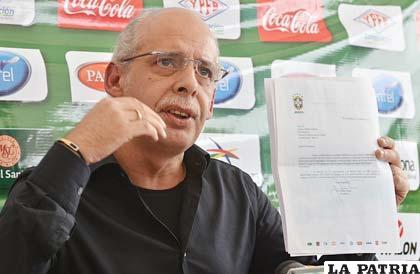 Carlos Chávez, presidente de la Federación Boliviana de Fútbol