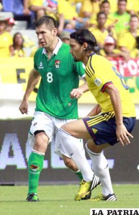 García con la marca a Aguilar