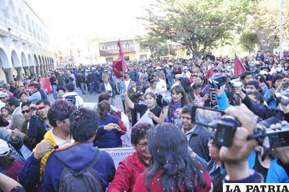 La Plaza 10 de Febrero fue testigo de otro hecho histórico para Oruro