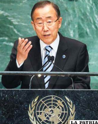 El secretario general de Naciones Unidas, Ban Ki-moon