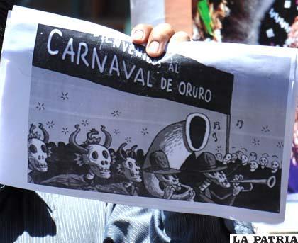 Caricatura que fue publicada mofándose del accidente en Carnavales