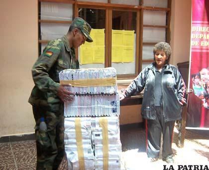 Material escolar se envió a damnificados de Beni