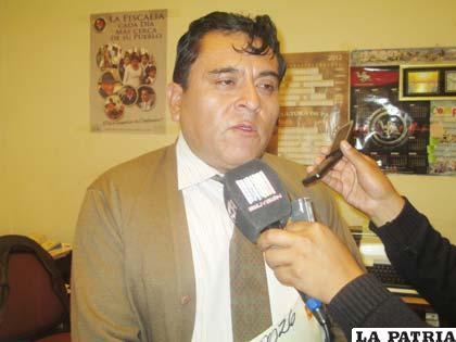 Fiscal Aldo Morales informa sobre el avance de la investigación
