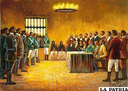 Finalmente en Santa Cruz se proclamó la independencia