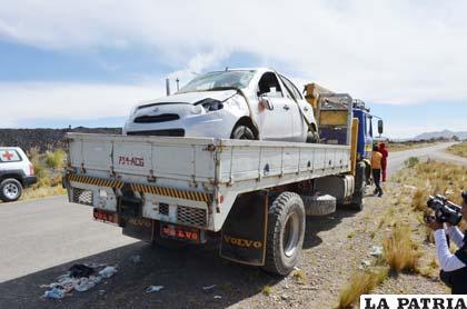 El vehículo protagonista del accidente de tránsito