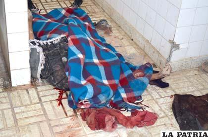 El cuerpo fue depositado en la morgue del Cementerio General