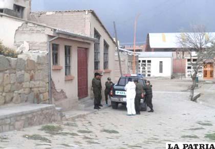 El cadáver fue depositado en la morgue del cementerio