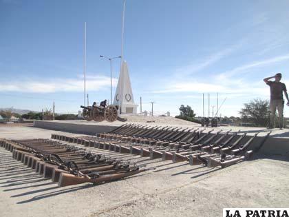 El armamento que fue utilizado en la batalla de Calama en 1879