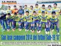 """San José Campeo 2014 del fútbol Sub-19 """"A"""""""