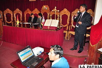 Personeros de la DAF del Tribunal Departamental de Justicia en la rendición de cuentas públicas