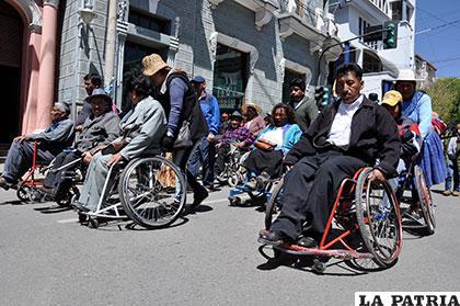 Movilización de discapacitados podría repetirse /Archivo