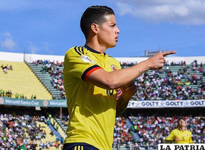 James Rodríguez fue autor del primer gol colombiano /APG