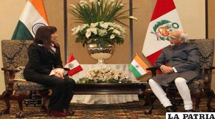 Ministra de Comercio Exterior, Magali Silva (Perú), se reunió con el vicepresidente de la India, Hamid Ansari /GESTION.PE