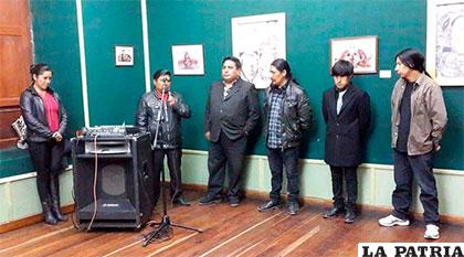 Inauguración de la exposición de la familia Fernández en la Casa Patiño