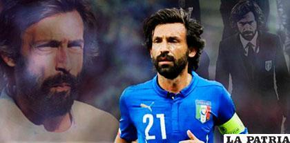 Andrea Pirlo fue goleador de la selección italiana
