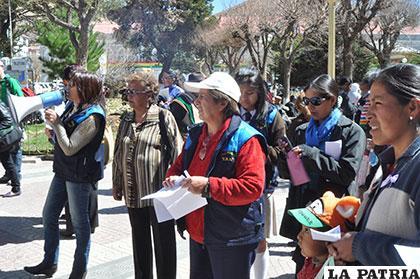 Mujeres del Foro Ciudadano Amupei en una movilización anterior /Archivo