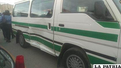 El minibús que atropelló al infante fue colisionado posteriormente