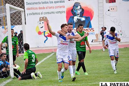 Fue empate 2-2 la última vez que jugaron en Oruro el 16/10/2016