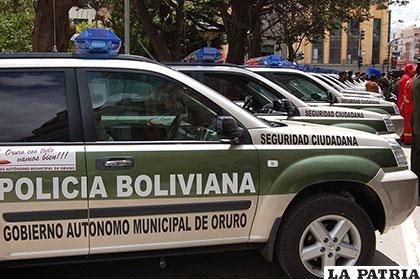 Vehículos para la policía departamental serán adquiridos con los recursos económicos para seguridad ciudadana /Archivo