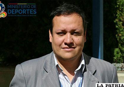 Wilge Antonio Céspedes, viceministro de Formación Deportiva