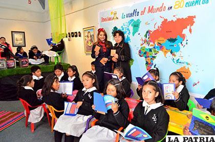 Niños viajan por el mundo a través de los cuentos