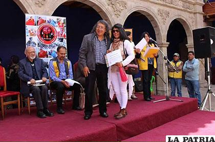 Verónica Guzmán es reconocida en la ciudad de La Paz /Q´umir Q´umir