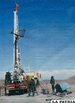 Equipo de Sergeomin que cumplió tareas de investigación en Caracollo - Oruro, la gestión pasada