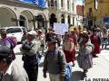 La movilización pidió a las autoridades priorizar una ley de aguas