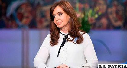 Ex presidenta argentina Cristina Fernández /El Tiempo