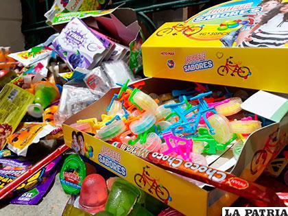 Parte de los dulces decomisados /GAMO