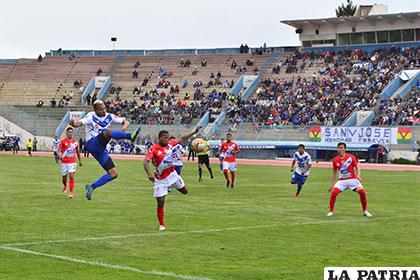 La acción del partido de ida jugado en Oruro el 27 de enero, donde Nacional Potosí venció (1-2)