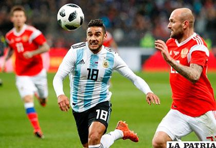Eduardo Salvio no jugará los amistosos de Argentina contra  Italia y España, pero espera estar recuperado para participar en el  Mundial de Rusia 2018