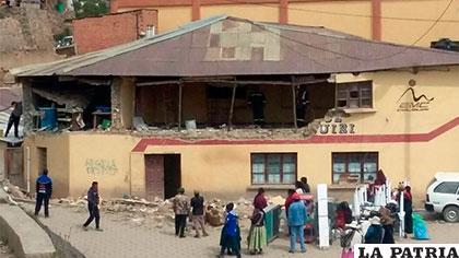 En este estado quedó el edificio donde hubo el incidente con la garrafa /ERBOL