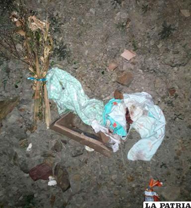 Así fue encontrado el cuerpo del bebé