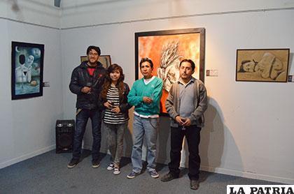 Pedro Seda, Krystel Jiménez, Jhonny Muñoz y Renán Huanca