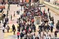 Orureños respondieron con fe y perdón las ofensas hacia la Virgen del Socavón