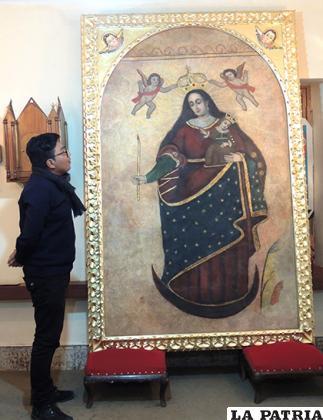 La restauración hecha a la Virgen del Socavón en 2018