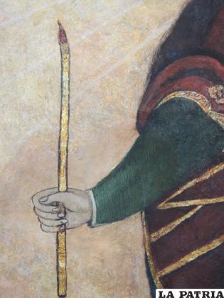 Detalle de la mano de la Virgen sosteniendo el cirio, cerca de 100 años la mano fue mutilada