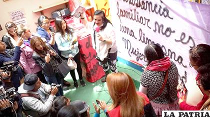 Mujeres Creando anunciaron demandas contra Machaca /ANF