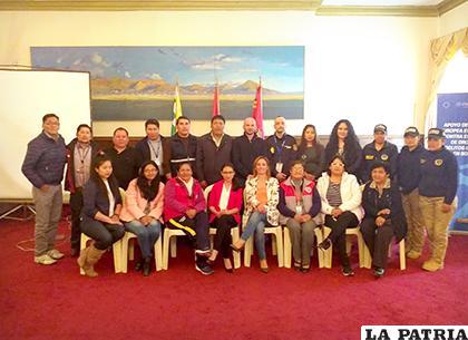 Los miembros de las instituciones que participaron de este taller /LA PATRIA