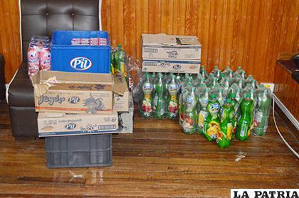 Los productos recuperados del robo / LA PATRIA