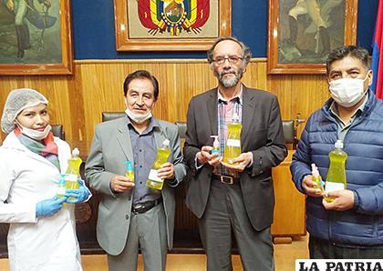 Autoridades esperan elaborar alcohol en gel para la venta /UTO
