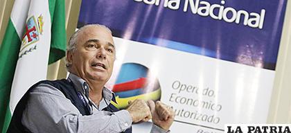 El ejecutivo de la Aduana  Nacional, Jorge Hugo Lozada  /EL DEBER