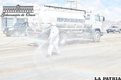 Desde el lunes las cisternas recorrerán las calles de Oruro /GAD-ORU