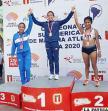 Cuizara (segunda) en el podio en el Sudamericano de Marcha  /LA PATRIA