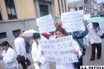 Funcionarios de la C.N.S. Regional Oruro radicalizarán sus medidas de presión