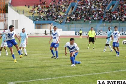 Botero, ya envió el balón al arco de Dulsich que se quedó parado y se concretó en el único gol del partido a favor de San José