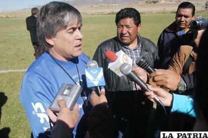 Marcelo Zuleta nuevo entrenador de San José, fue presentado ayer